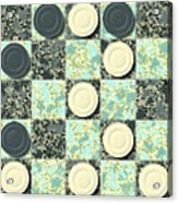 Checkerboard Generated Seamless Texture Acrylic Print