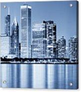 Chicago Skyline At Night Acrylic Print