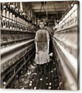 Child Laborer Portrayed By Lewis Hine Acrylic Print