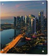 Cityscape Of Singapore City Acrylic Print