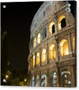 Coliseum Illuminated At Night. Rome Acrylic Print