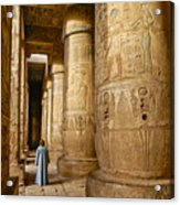 Colonnade In An Egyptian Temple Acrylic Print