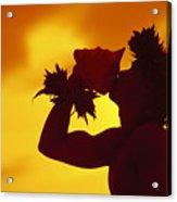 Conch Shell Blower Acrylic Print
