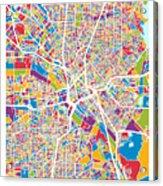 Dallas Texas City Map Acrylic Print