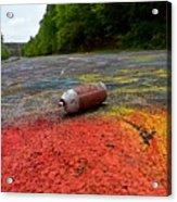 Discarded Spray Paint Can Acrylic Print