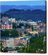 Downtown Morgantown And West Virginia University Acrylic Print