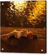 Fawnya Frolic Acrylic Print