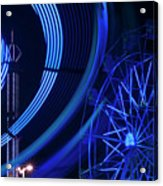Ferris Wheel In Motion Acrylic Print