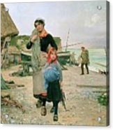 Fisherfolk Returning With Their Nets 1882 Henry Bacon Acrylic Print