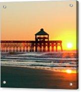 Folly Beach Pier Sunrise Acrylic Print