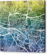Glasgow Street Map Acrylic Print