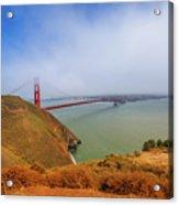 Golden Gate Bridge Vista Point Acrylic Print