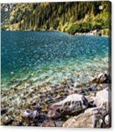 Green Water Mountain Lake Morskie Oko, Tatra Mountains, Poland Acrylic Print