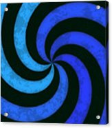 Grunge Swirl Acrylic Print