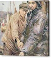 Hauling In The Net Henry Meynell Rheam Acrylic Print