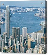 Hong Kong Harbour View From The Peak Acrylic Print