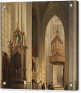 Interior View Of Namur Cathedral Acrylic Print