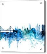 Istanbul Turkey Skyline Acrylic Print