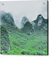 Karst Mountains Rural Scenery Acrylic Print