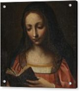 Lady Reading Acrylic Print