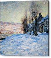 Lavacourt Under Snow Acrylic Print
