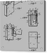 Lighter Patent From 1934 Acrylic Print