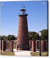 Lighthouse On Lake Toho At Kissimmee In Florida Acrylic Print