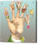 5 Little Pigs -icon Back Card For Mungindi Trading Cards Acrylic Print by Tom Kerr