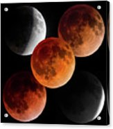 5 Moons Acrylic Print