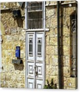 old suburb in Jerusalem. Acrylic Print