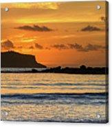 Orange Sunrise Seascape Acrylic Print