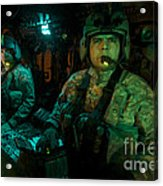 Pilots Sitting In The Cockpit Acrylic Print
