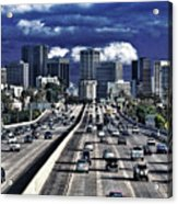 5 Pm Downtown Next Exit Acrylic Print