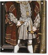 Portrait Of Henry Viii Acrylic Print