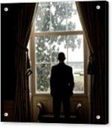 President Barack Obama Looks Acrylic Print by Everett