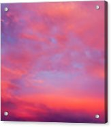 Red Cloudscape At Sunset. Acrylic Print