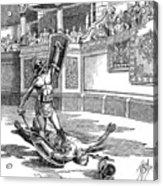 Roman Gladiators Acrylic Print