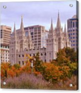 Salt Lake City Lds Temple Acrylic Print