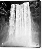 Skogafoss Waterfall In Iceland Acrylic Print