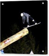 Snowboarder At The Telus Snowboard Festival Whistler 2010 Acrylic Print