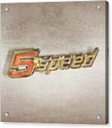 5 Speed Chrome Emblem Acrylic Print