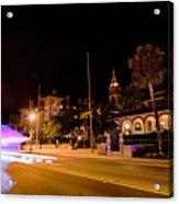 St Augustine City Street Scenes Atnight Acrylic Print