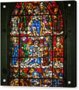 Stained Glass At The Manizales Cathedral In Colombia Acrylic Print