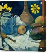 Still Life With Teapot And Fruit Acrylic Print