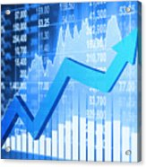 Stock Market Concept Acrylic Print