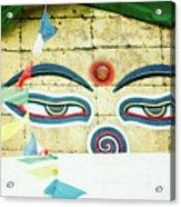 Swayambhunath Stupa In Nepal Acrylic Print