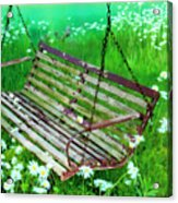 Swing In The Daisies Acrylic Print