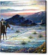 Texas Rangers On His Trail Acrylic Print