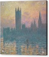 The Houses Of Parliament Acrylic Print