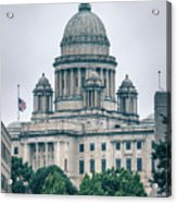The Rhode Island State House On Capitol Hill In Providence Acrylic Print